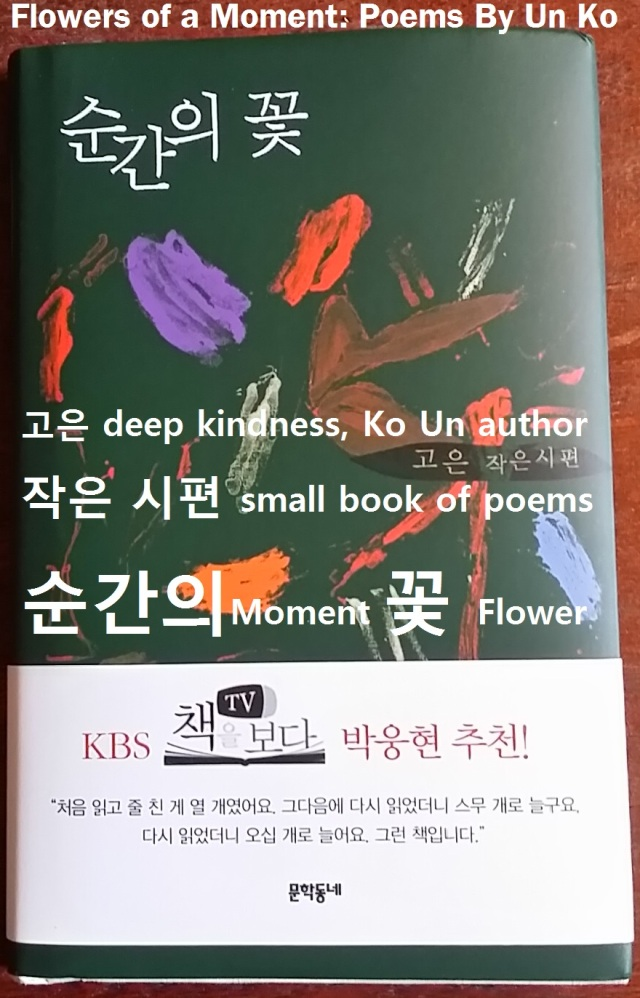 A gift from a Korean friend who sent me this book so I could enjoy the poems in the original 한국말