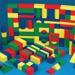colored wood blocks