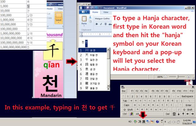 Typing Hanja
