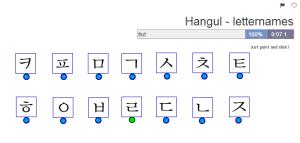 Hangul Letter names