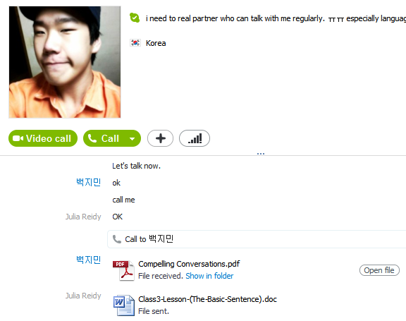 Language Exchange – Skype call | Hanguk Babble