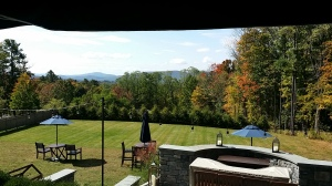 View of Berkshires from porch