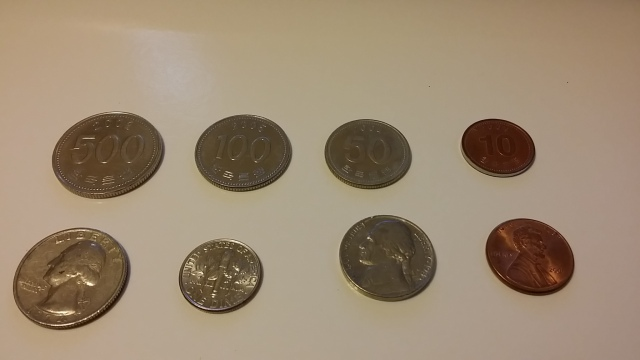 US and South Korean coins