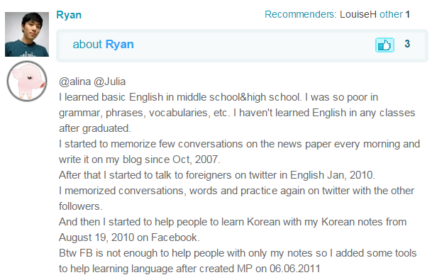 How Ryan Learned English