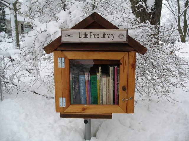 Little Free Library - share your love of books with your community.  Everyone should have one. :)
