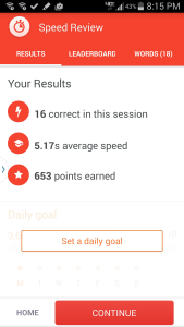 Memrise Speed Review