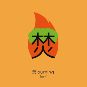 Chineasy_forest_Burning